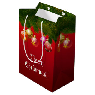 Colorful Christmas Decorations Medium Gift Bag
