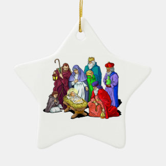 Colorful Christmas Nativity Scene Christmas Ornament