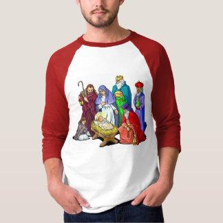 Colorful Christmas Nativity Scene T-shirts