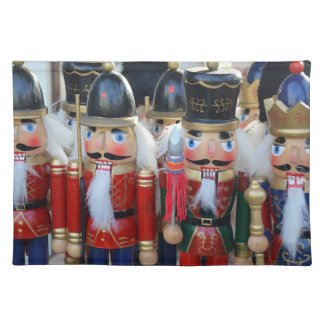 Colorful christmas nutcrackers placemat