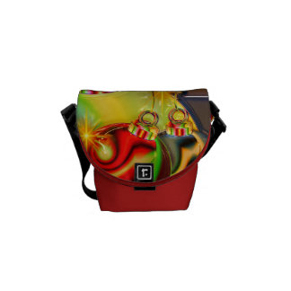 Colorful Christmas Ornament Mirrored Decoration Messenger Bags