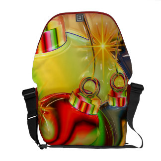 Colorful Christmas Ornament Mirrored Decoration Courier Bags