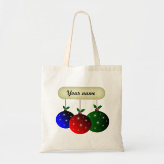 Colorful Christmas ornaments with snowflakes Tote Bag