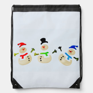 Colorful Christmas Snowman Parade Backpack