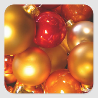Colorful Christmas tree decorations Stickers
