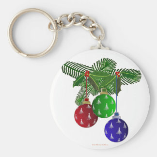 Colorful Christmas Tree Ornaments Keychains