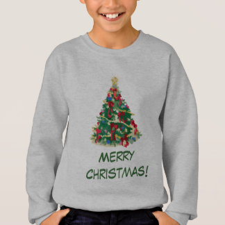 Colorful Christmas Tree: Vector Art: Sweatshirt