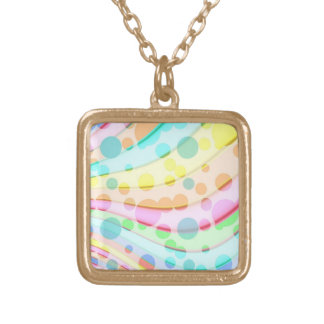 Colorful Circle Abstract Necklaces