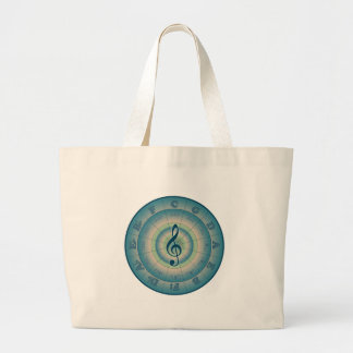 Colorful Circle of Fifths Large Tote Bag