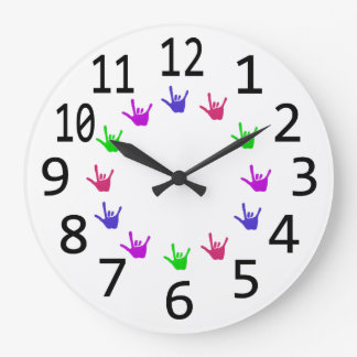 Colorful Circle of Love Sign Language Hands Clocks
