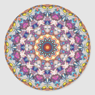Colorful Circle of Symmetry Round Sticker
