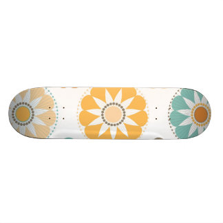 Colorful Circle Paper Flower Patterns Skateboard Decks