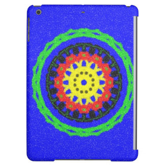 Colorful circle pattern on blue background cover for iPad air