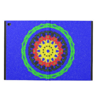Colorful circle pattern on blue background powis iPad air 2 case