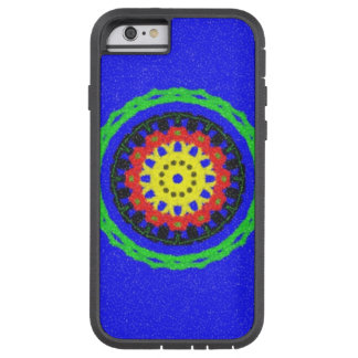 Colorful circle pattern on blue background tough xtreme iPhone 6 case