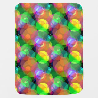 Colorful Circles Blanket Receiving Blankets