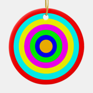 Colorful Circles Christmas Ornament