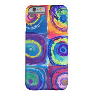 colorful circles cropped barely there iPhone 6 case