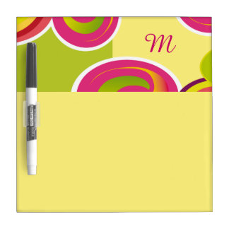 Colorful Circles |Custom Monogram Dry-erase Boards