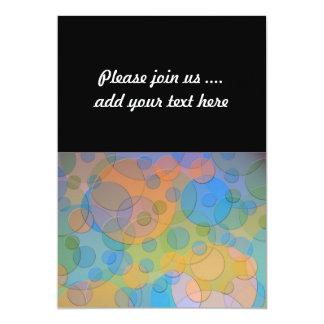 Colorful Circles Fun Abstract Art 13 Cm X 18 Cm Invitation Card