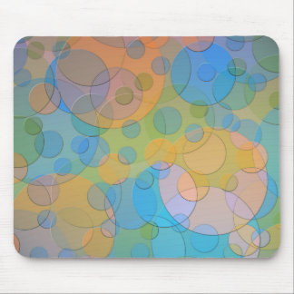 Colorful Circles Fun Abstract Art Mouse Pads