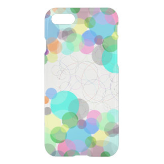 Colorful circles iPhone 7 clear case