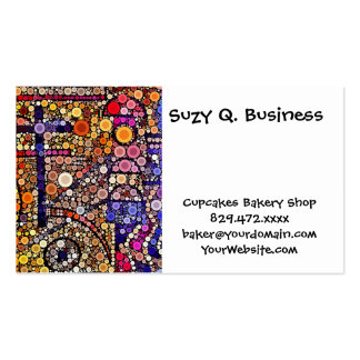Colorful Circles Mosaic Southwestern Cross Design Pack Of Standard Business Cards