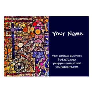 Colorful Circles Mosaic Southwestern Cross Design Pack Of Chubby Business Cards