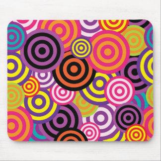 Colorful circles mouse mat