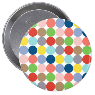 colorful circles of color in pastel 10 cm round badge