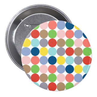 colorful circles of color in pastel 7.5 cm round badge