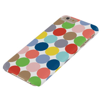 colorful circles of color in pastel barely there iPhone 6 plus case