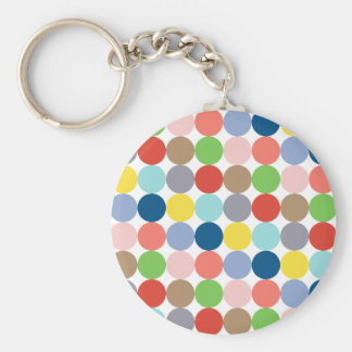 colorful circles of color in pastel basic round button key ring