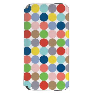 Colorful circles of color in pastel incipio watson™ iPhone 6 wallet case