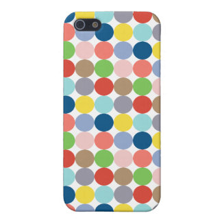 Colorful circles of color in pastel iPhone 5/5S case