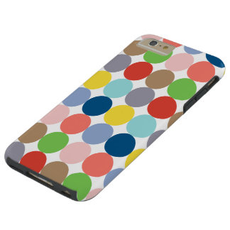 colorful circles of color in pastel tough iPhone 6 plus case