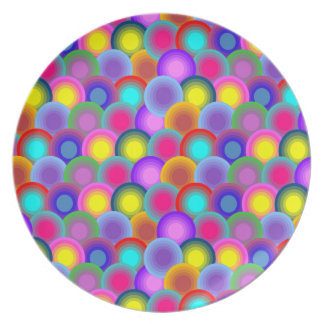 Colorful Circles Pattern Plate