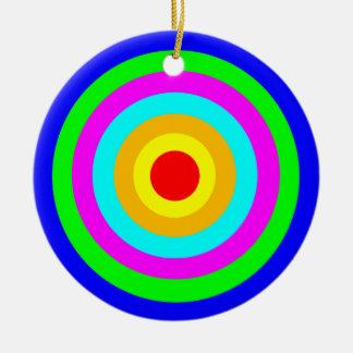 Colorful Circles Round Ceramic Decoration