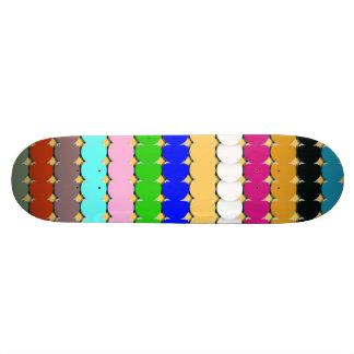 Colorful circles rows skateboard