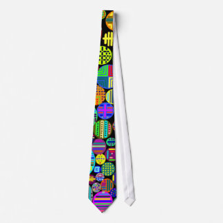 Colorful Circles Tie on Black Customizable