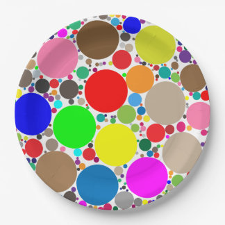 Colorful Circles within Circles Personalized Paper Plate