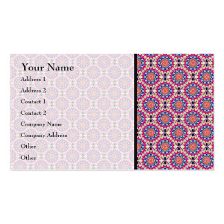 Colorful Circular Repeating Abstract Pattern Pack Of Standard Business Cards