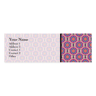Colorful Circular Repeating Abstract Pattern Pack Of Skinny Business Cards