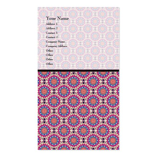 Colorful Circular Repeating Abstract Pattern Business Cards