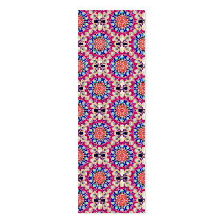Colorful Circular Repeating Pattern Bookmark Pack Of Skinny Business Cards