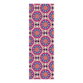 Colorful Circular Repeating Pattern Bookmark Pack Of Skinny Business Cards