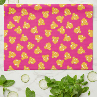 Colorful Circus Popcorn Pattern Tea Towel