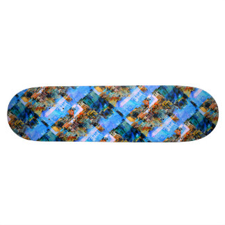 Colorful City Collage 21.6 Cm Old School Skateboard Deck