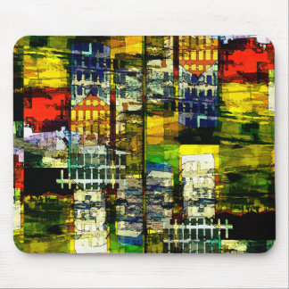Colorful City Scene Mouse Pad
