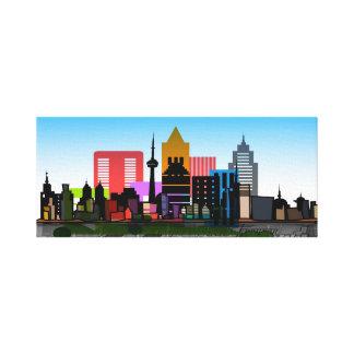 Colorful Cityscape Canvas Print
